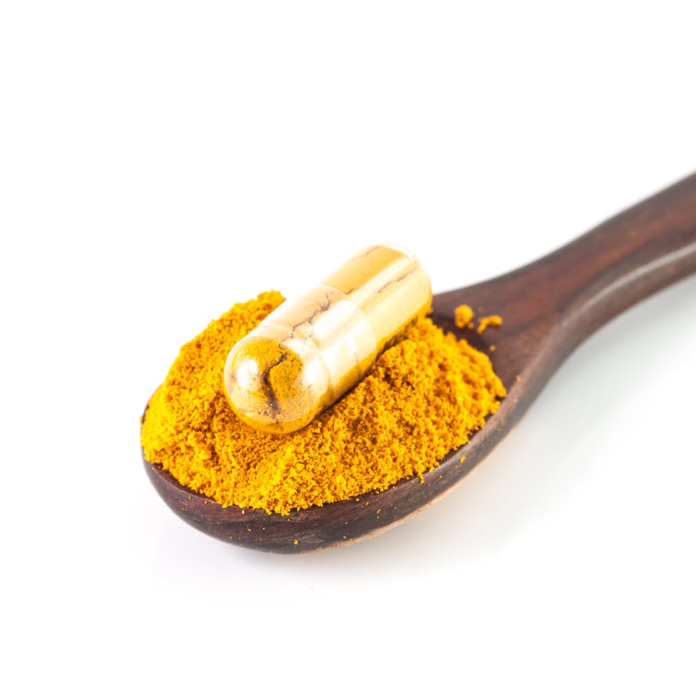Curcumin sub-micrometer particles by nano spray drying